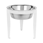 Vision Single Bowl Elevated Diner - Indoor and Outdoor - Metal Dog Bowl - Raised Pet Feeder