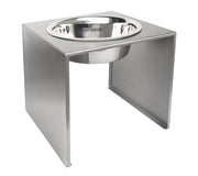 Slate Single Diner - Modern, Stainless Steel Raised Pet Bowl, Water Bowl, Feeder, 304 Stainless Steel