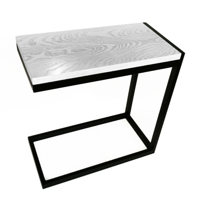 NMN Designs | Raja Modern End Table Accent Table Hardwood Cantiliever Black