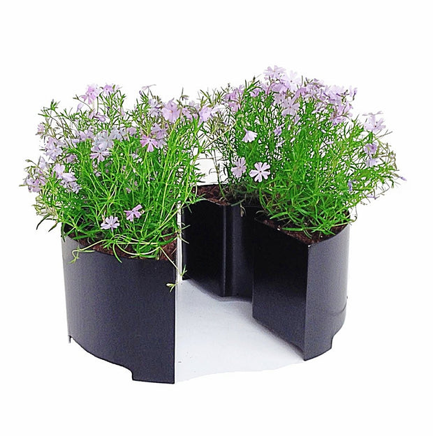 Umbrella table planter wrap around umbrella hole black