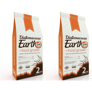 2 lb Food Grade Diatomaceous Earth - 2 Pack