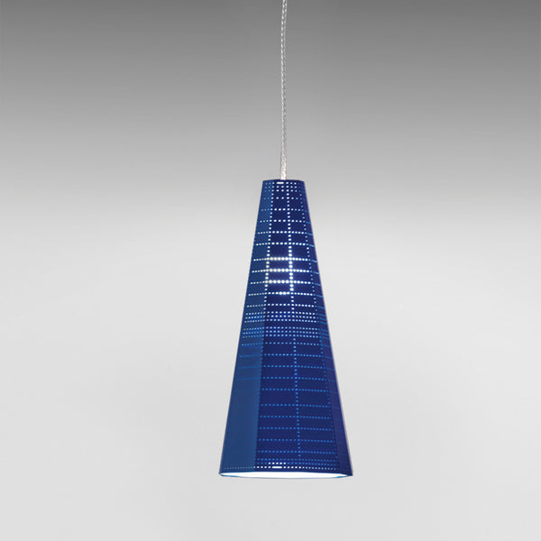 Null Vector Alpha Suspension LED 10W GU10 Bleu No-Bulb
