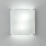 Facet wall Fluorescent 2X26W White Glass