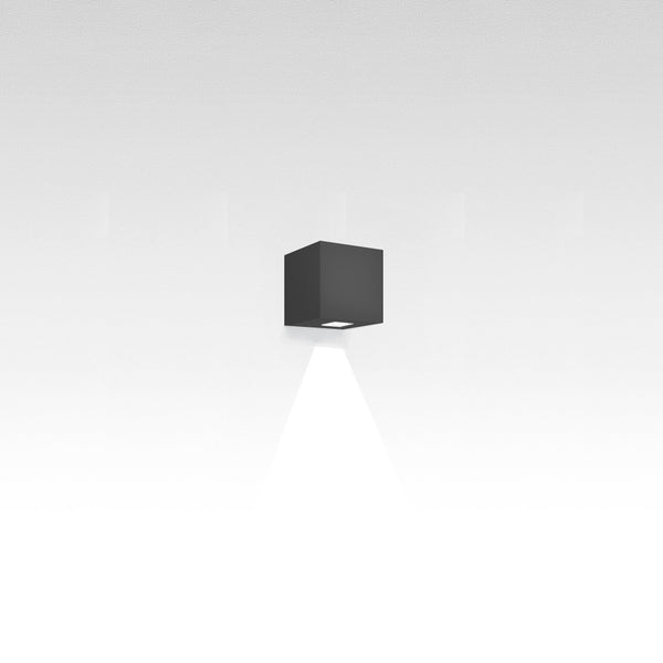 Effetto 14 square wall LED 1 large beam anthracite