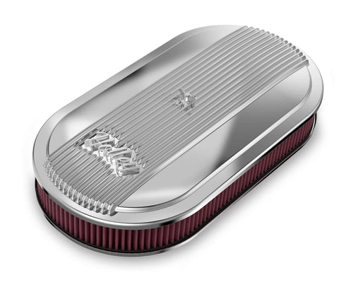 Holley Vintage Series Oval Air Cleaner - Polished - 120-401 - Modern Day Muffler