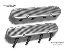 Load image into Gallery viewer, 2-Pc LS Finned Valve Covers - Natural Finish - 241-180