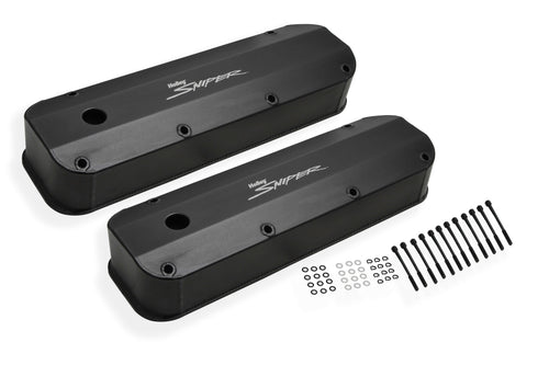 Sniper Fabricated Aluminum Valve Cover - Ford Big Block - Black Finish - 890007B