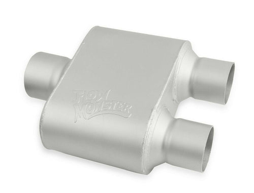 Flowmonster 1-Chamber Muffler 430102-FM 3.00 Center Inlet / 2.50 Dual Outlet