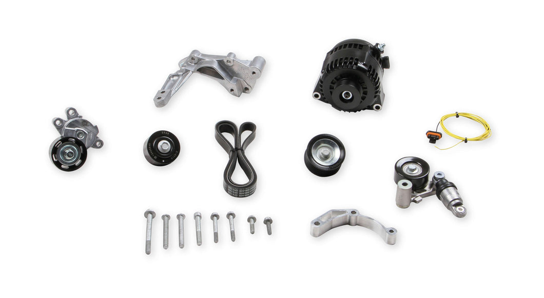 Holley Alternator Relocation Kit  Black Finish LT4 Wet Sump 20-224BK