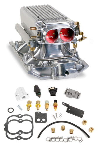Small Block Chevy Polished Stealth Ram Multi-Port Power kit Vortec heads 550-710
