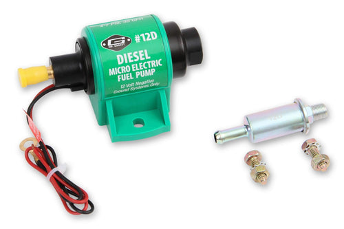 Mr Gasket 12D Electric Fuel Pump 35gph Free Flow for Diesel Engines 4-7 PSI