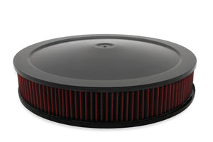 "4500 drop base air cleaner black w/3"" red washable gauze filter - 120-4630"