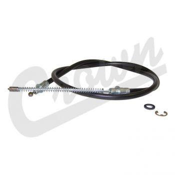Crown Automotive - Metal Black Parking Brake Cable - 52000865 - Modern Day Muffler