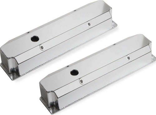 Sniper Fabricated Aluminum Valve Cover - Chrysler Big Block - Silver - 890006