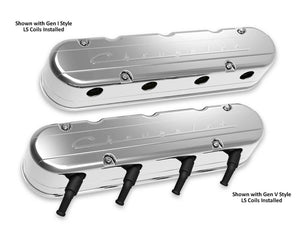"2-Pc LS ""Chevrolet"" Script Valve Covers - Polished Finish - 241-176"