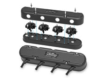 Load image into Gallery viewer, 2-Pc LS Vintage Series Valve Covers - Satin Black Machined Finish - 241-172