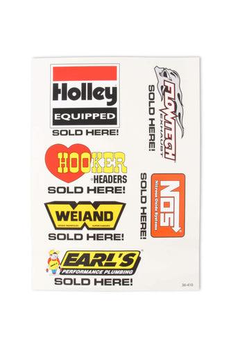 Holley Assorted Brands Sold Here Decal Sheet - 36-410