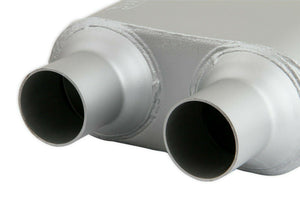 Flowmonster 1-Chamber Muffler 425102-FM 2.50 Center Inlet / 2.25 Dual Outlet