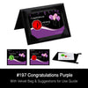 Congratulations Purple Standard Product
