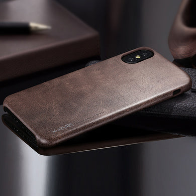iPhone X: Leather Phone Case (Multiple Colors)
