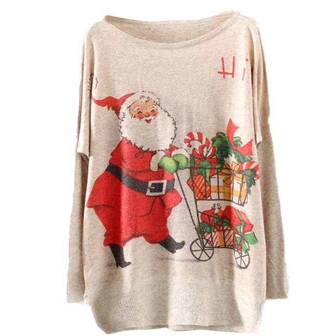 Women's Santa Claus Loose Knit Sweater