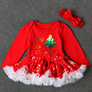Toddler Christmas Long Sleeve Dress