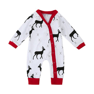 Infant Reindeer Christmas Pajamas