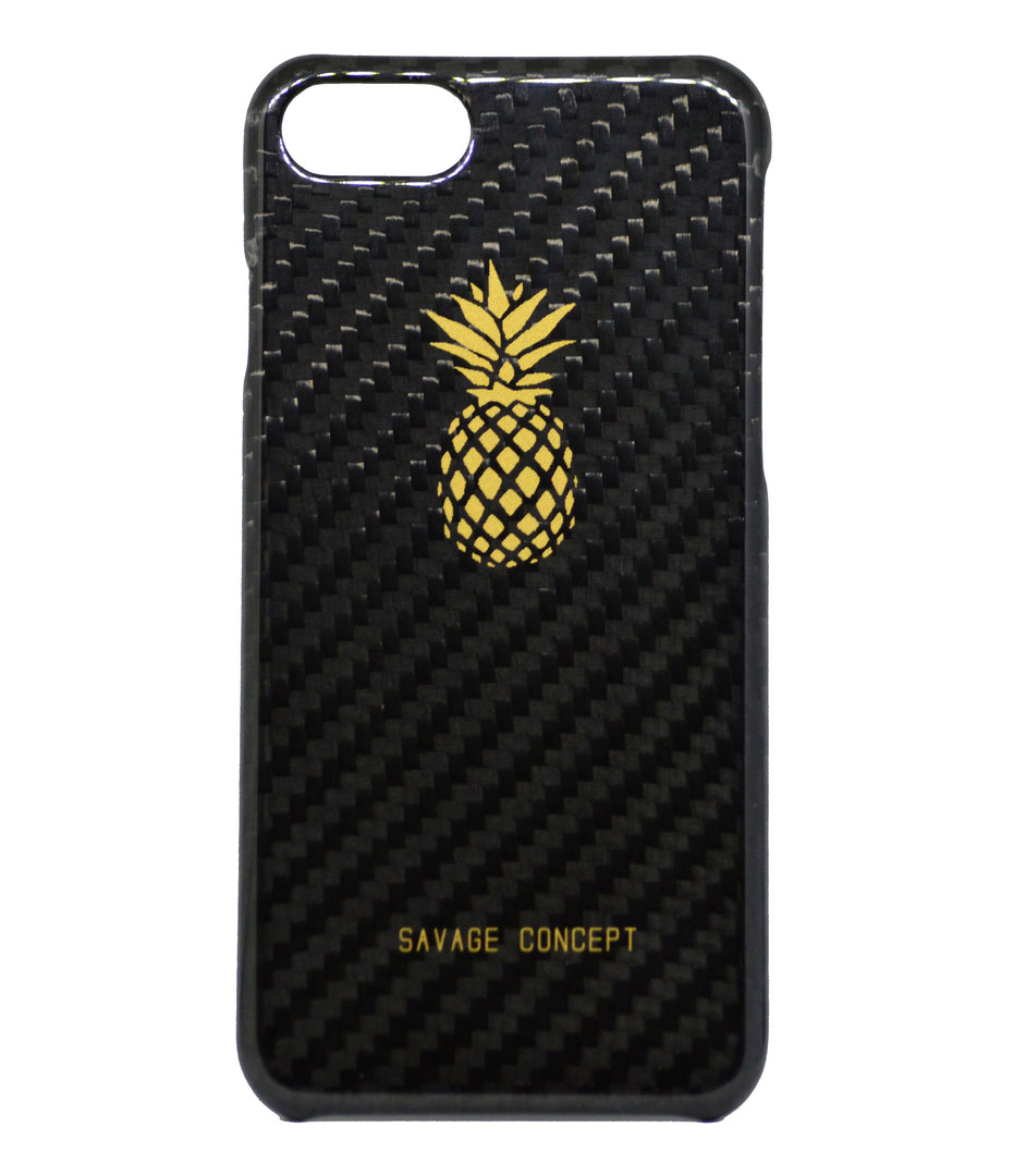 Pineapple iPhone 7 & 8 carbon fiber case - Savage Concept