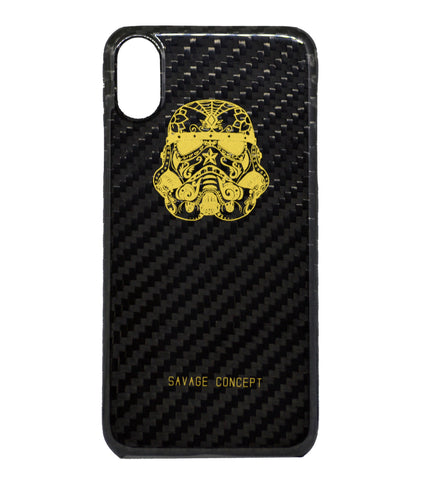 Stormtrooper iPhone X carbon fiber case - Savage Concept