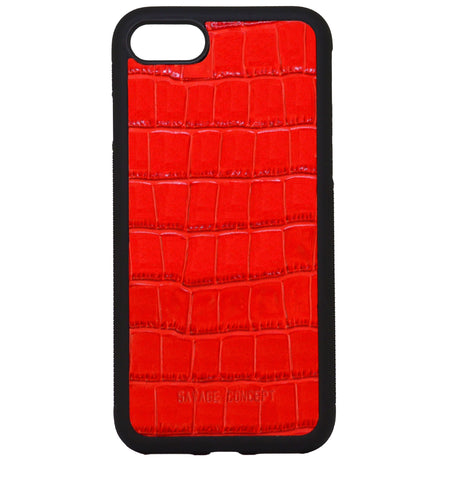 Red Croc iPhone 7 & 8 case - Savage Concept