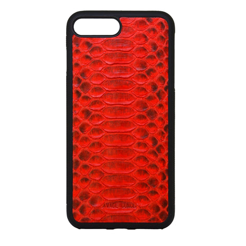 Red Python iPhone 7 Plus & 8 Plus case - Savage Concept