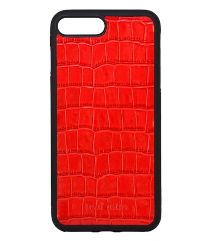 Red Croc iPhone 7 Plus & 8 Plus case - Savage Concept