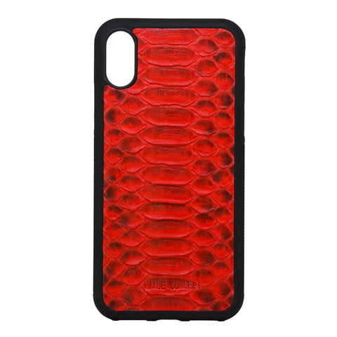 Red Python iPhone X case - Savage Concept