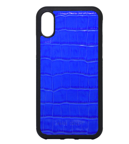Blue Croc iPhone X case - Savage Concept