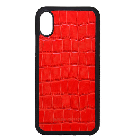 Red Croc iPhone X case - Savage Concept