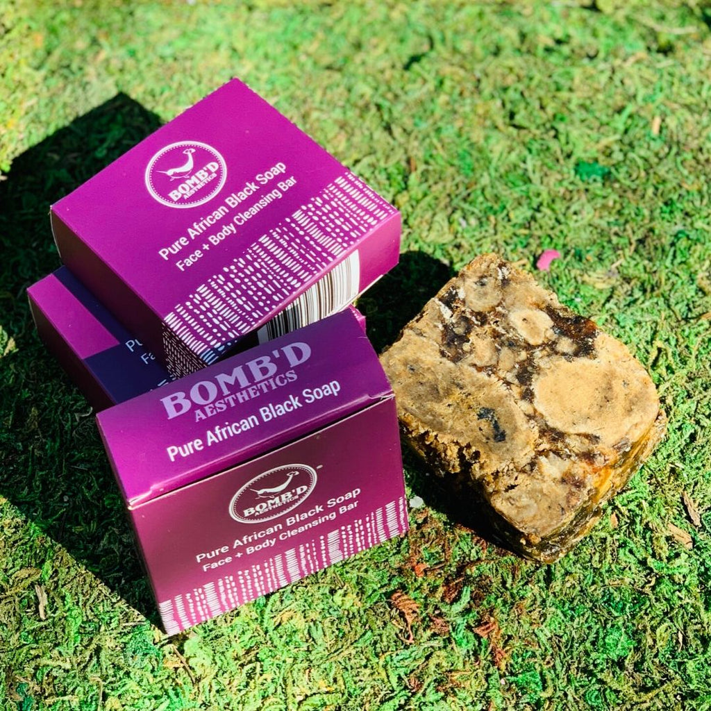 Pure African Black Soap Bar