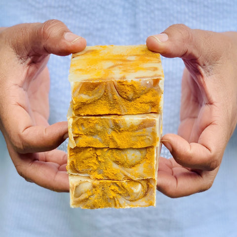 turmeric natural soap and vegan
