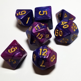 Polyhedral Marble Dice Set (7 count)