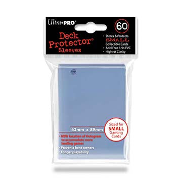 UltraPro - Clear Small Deck Protectors - 62mm x 89mm - 60 Count Pack
