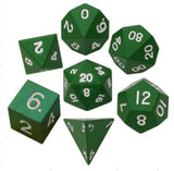 Green Polyhedral Metallic Dice Set (7 count)