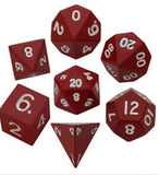 Red Polyhedral Metallic Dice Set (7 count)