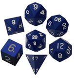 Blue Polyhedral Metallic Dice Set (7 count)