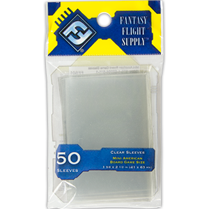 Mini American Board Game Sleeves (FFG Yellow - 50)
