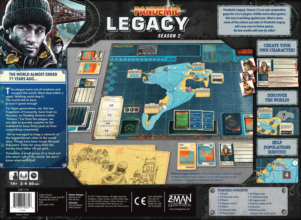 Pandemic: Legacy Season 2 (Black Box) – Social Inertia