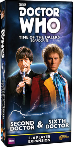 Doctor Who: Time Of The Daleks Board Game - Second Doctor And Sixth Doctor 5-6 Player Expansion