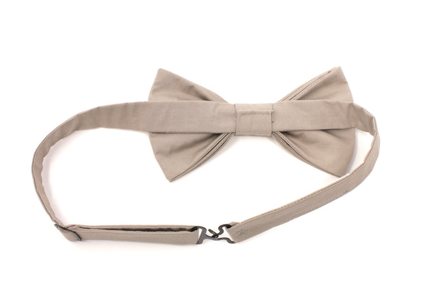 Solid Taupe Bow Tie