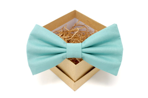 Dusty Turquoise Bow Tie