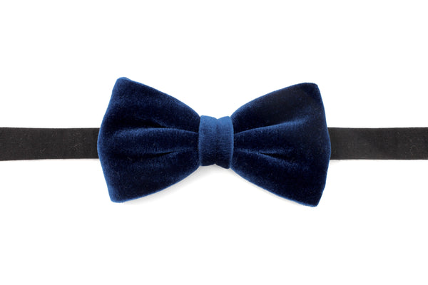 Midnight Blue Velvet Bow Tie