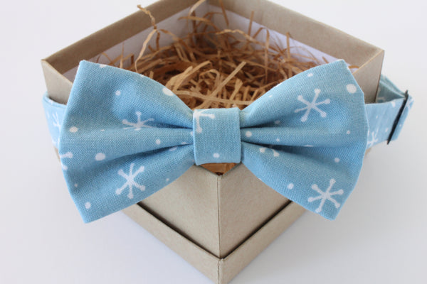 Blue Snowflake Children's Bow Tie