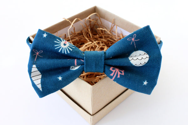 Blue Ornament Adult Bow Tie